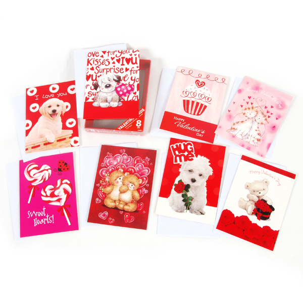 VALENTINE Boxed Cards (8 pack) (1877039)