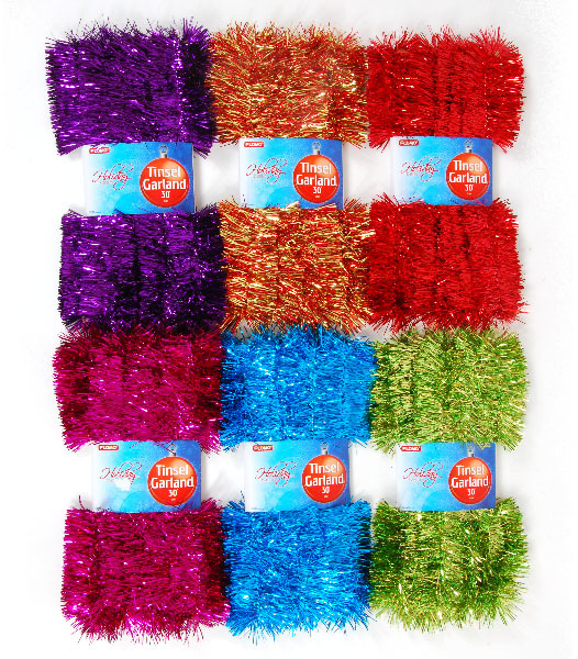 Wholesale ply tinsel garland sku dollardays