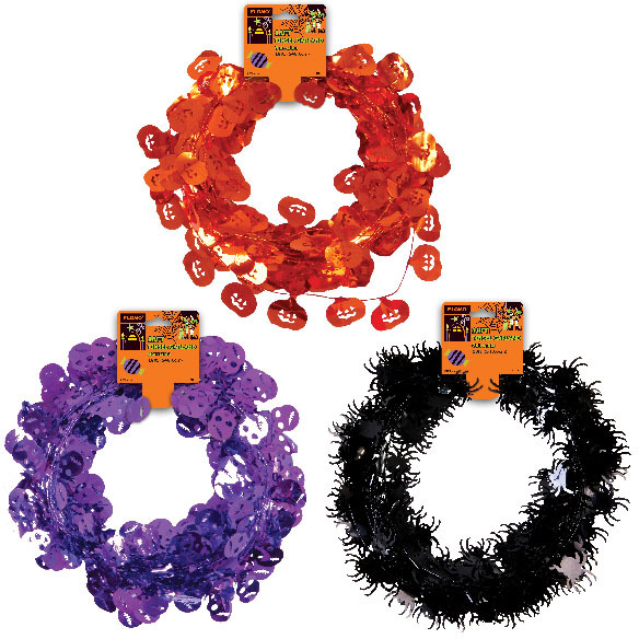 Wholesale halloween wire tinsel garland sku