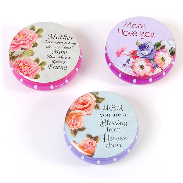 Round Tin JEWELRY BOX in a Counter Top Display for Mom (1940517)