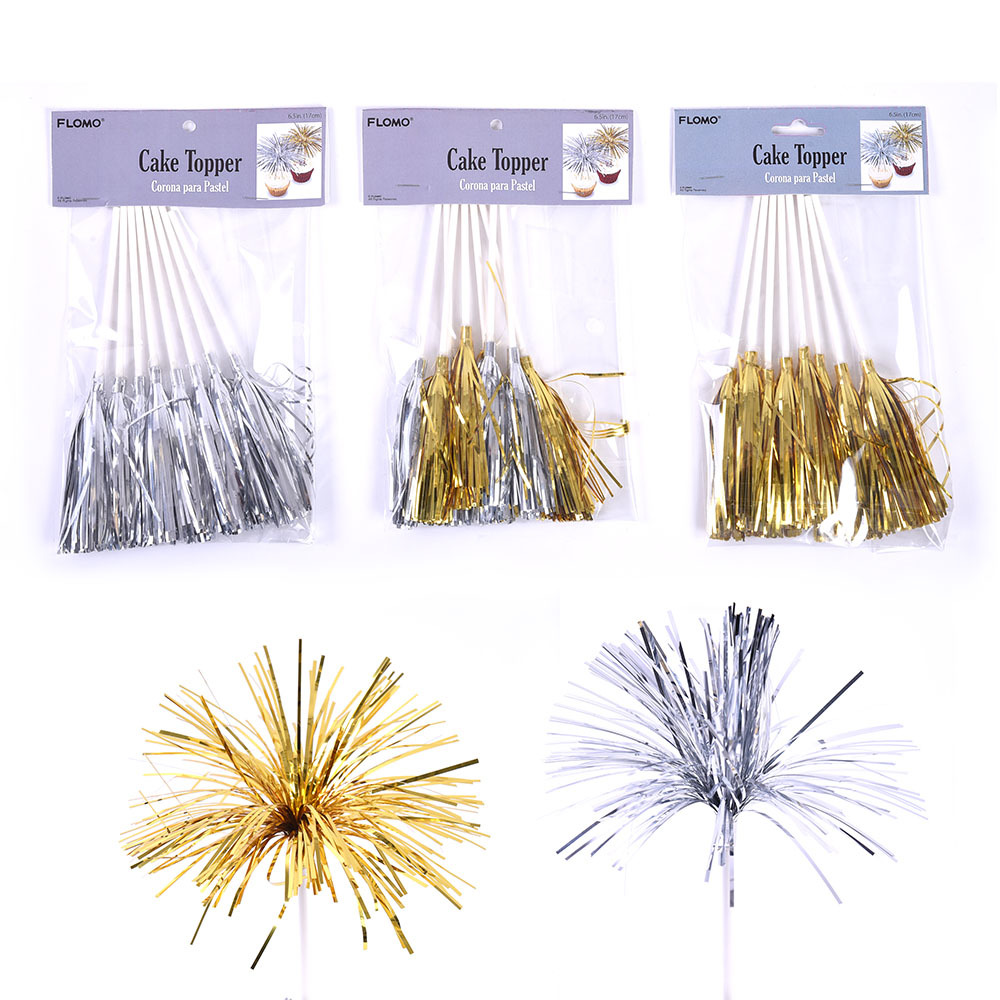 Wholesale Sparkle Tinsel Cup Cake Toppers (SKU 2319900 ...