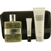 Eau Sauvage Set-Edt Spray 3.4 Oz & Shower Gel 2.5 Oz & Dermo System .33 Oz & Leather Toiletry Bag By Christian Dior Wholesale Bulk