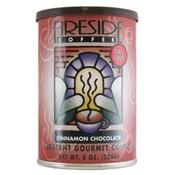 Fireside Coffee Cinnamon Chocolate Decaf Instant Coffee 8 Oz Can Wholesale Bulk