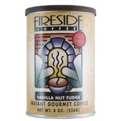 Fireside Coffee Vanilla Nut Fudge Instant Coffee 8 Oz Can Wholesale Bulk