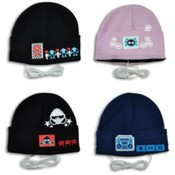 Gadget Gear Knit Hat with Built In Headphones Wholesale Bulk
