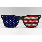 Imprinted Sunglasses- Patriotic USA Flag