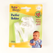 Baby Buddy Bear Pacifier Holder White Wholesale Bulk