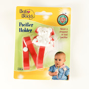 Baby Buddy Bear Pacifier Holder Red Wholesale Bulk