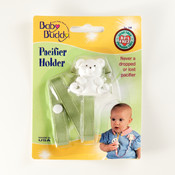 Baby Buddy Bear Pacifier Holder Sage Wholesale Bulk