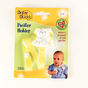 Baby Buddy Bear Pacifier Holder Yellow Wholesale Bulk