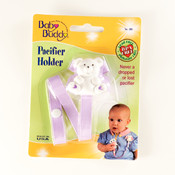 Baby Buddy Bear Pacifier Holder Lilac Wholesale Bulk