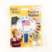 Baby Buddy American Baby Pacifier Holder God Bless America Wholesale Bulk