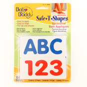 BB Safe-T-Shapes Bath Appliques - ABC123