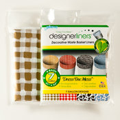 Designerliners 8 Count Gold Gingham