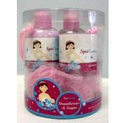 Spa Candy Strawberries and Sugar Shimmer Set