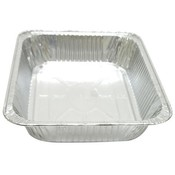 "Foil Roast Pan 1/2 Size Deep - 12.75"" x 10.38"" x 2.56"" No Label"