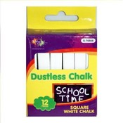 Chalk White Dustless Square Wholesale Bulk