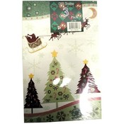 Medium Christmas Print Clothing Gift Box 3 Count 4 Assorted Prints Wholesale Bulk