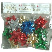Christmas Mini Metallic Star Bows Assorted