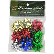 Christmas 9 Count Ultra Tiny Assorted Bows In Bag Wholesale Bulk