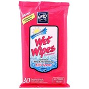 Lucky Antibacterial Alcohol Free Wet Wipes Travel