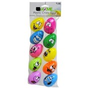 Small Plastic Crazy Face Easter Eggs 10ct