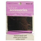 Fashion Accessory- Black Stretch Cord for Beading - 4yds Wholesale Bulk