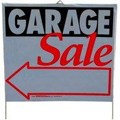 "Plastic Lawn Sign 14"" x 16"" - ""Garage Sale"""