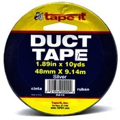 Silver Duct Tape 1.89&quot; x 10 Yards x 7.5 Mil. Thickness In PDQ