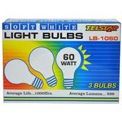 Telstar 60 Watt Soft White Light Bulb 3 pk