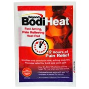 "Beyond Bodiheat 12 hr Pain Relief Disposable Adhesive Heating Pad 3.75"" x 5.125"""