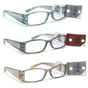Snake Skin DesignPlastic Reading Glasses ast Powers and Colors PP $14.99