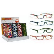 Retro Reading Glasses with Neoprene Case
