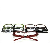 Georgio Caponi Lazer Striped Plastic Reading Glasses Assorted  Powers &amp;amp; Colors