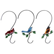 Metal 'S' Hook with Bird for Plant Hanging Assortment Wholesale Bulk