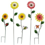 Metal Flower Garden Stake Assortment