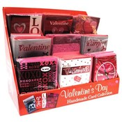 Handmade Valentine's Day Card 5'x7' Individually Wrapped in Assorted Counter Dsp Wholesale Bulk