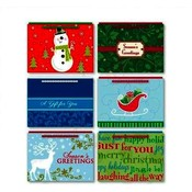 Mini Christmas Gift Card Bag w/Coordinating Tissue Wholesale Bulk