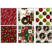 Traditional Christmas Roll Wrap 6 Assorted 16'x30' Wholesale Bulk
