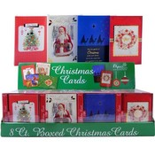 Boxed Christmas Cards 6 Assorted In a Counter Display- Traditional/Religious Wholesale Bulk
