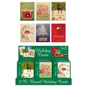 Boxed Premium Christmas Cards 6 Assorted In a Counter Display- Contemporary Wholesale Bulk