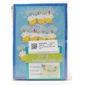 Pop-Up Birthday Cards with Envelopes 5'x7' 4 Designs - 12-Pack Wholesale Bulk