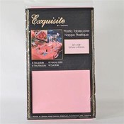 "Crown Pink Plastic Table Cover 54"" x 108"""