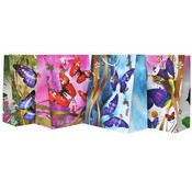 Large Butterfly Embossed Gift Bag Assorted