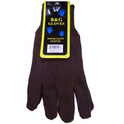 Brown Jersey Glove Single Pair