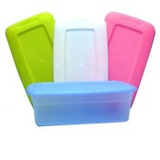 Plastic Shoe Box Assorted Color Tops 13.8x7.5x4.25