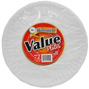 Winterfield Value Paper Plates 9' Wholesale Bulk