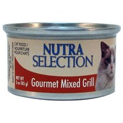 Nutra Selections Gourmet Grill Cat Food Mixed