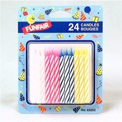 24 Birthday Candles 4 Colors