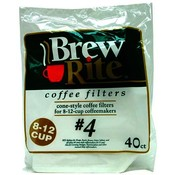 Brew Rite (#4) Cone Coffee Filters Wholesale Bulk
